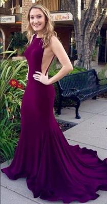 Gorgeous Sleeveless Mermaid Prom Dress UKes UK Sweep train_1
