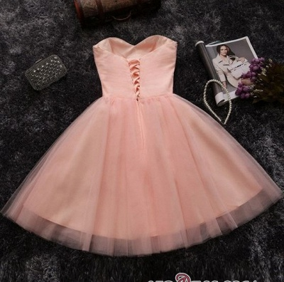 Crystals Sweetheart-Neck Sexy A-line Short Pink Homecoming Dress UKes UK_4