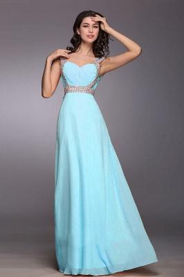 Gorgeous Sweetheart Crystals Chiffon Prom Dress UK Long Lace Up_2