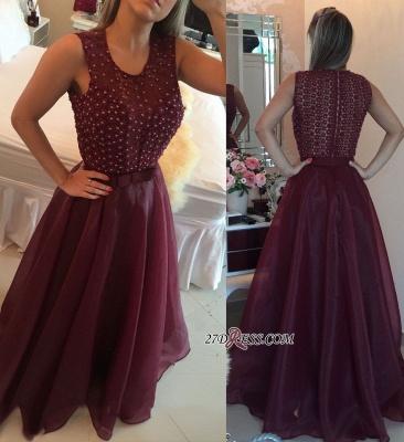 Burgundy evening Dress UK, prom Dress UK with pearls_2