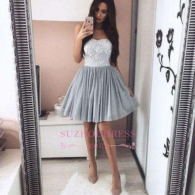 A-Line Short Appliques Sweetheart Appliques Simple Homecoming Dress UK_1