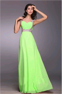 Gorgeous Sweetheart Crystals Chiffon Prom Dress UK Long Lace Up_3