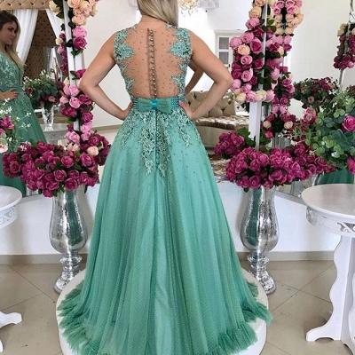 Sexy Sleeveless Evening Dress UK Lace Beadings Long BMT_3