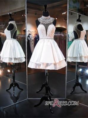 Delicate High-Neck Sleeveless A-line Beads Mini Homecoming Dress UK_3