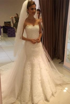 Elegant Sweetheart Lace Sexy Mermaid Wedding Dress_1