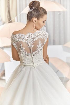 Elegant Illusion Tulle Princess Wedding Dress With Sweep Train_2