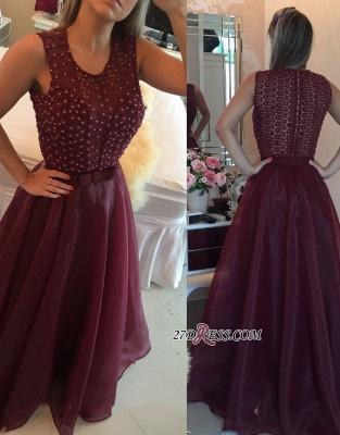 Burgundy evening Dress UK, prom Dress UK with pearls_1