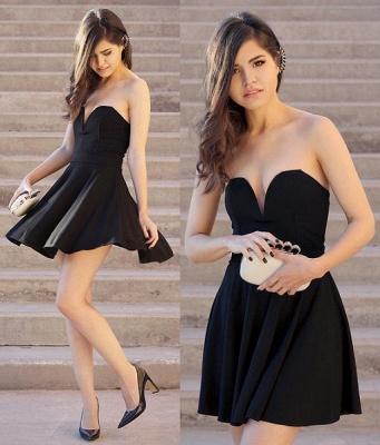 Newest Black Sweetheart Mini Homecoming Dress UK Sleeveless High Quality_3