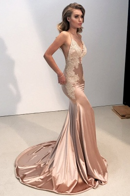 V-neck Backless Lace Prom Dress UK | Mermaid Long Evening Gowns BA8287_1