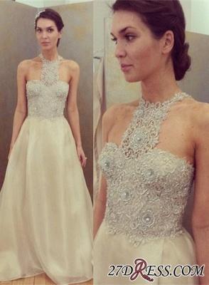 Lace Beadings Designer Sleeveless Luxury Long Prom Dress UK_2