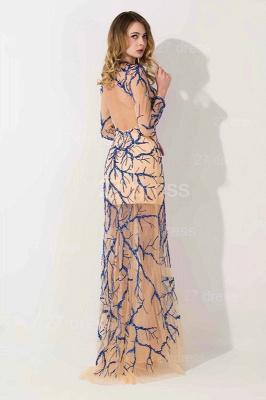 Elegant Long Sleeve A-line Evening Dress UK Beadings Jewel_3