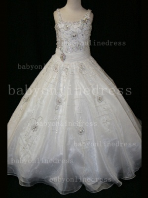 Crystal Discounted Pageant Dresses for Girls on Sale Formal Gowns Flower Newborn Beaded Girls_5