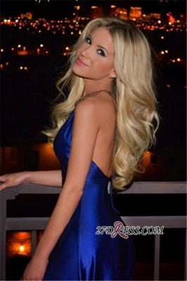 Royal-Blue Open-Back V-Neck A-Line Side-Slit Elegant Evening Dress UK qq0194_3