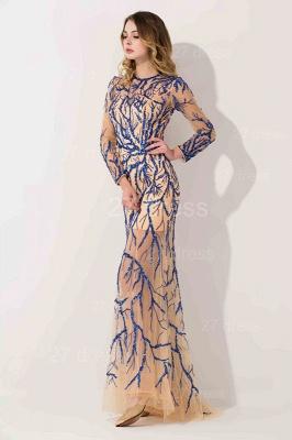 Elegant Long Sleeve A-line Evening Dress UK Beadings Jewel_2