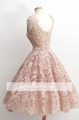 A-Line Short Lace Simple Sleeveless Sexy Homecoming Dress UKes UK_3