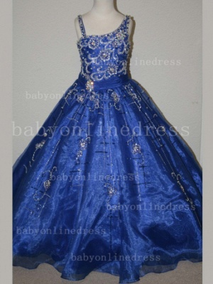 Crystal Discounted Pageant Dresses for Girls on Sale Formal Gowns Flower Newborn Beaded Girls_6