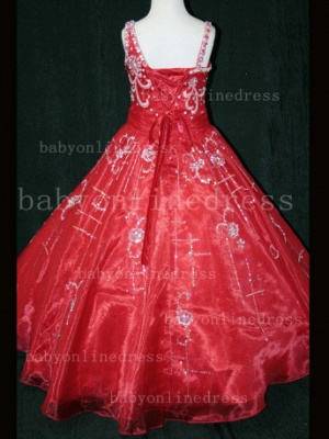 Crystal Discounted Pageant Dresses for Girls on Sale Formal Gowns Flower Newborn Beaded Girls_2