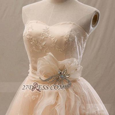 Lovely Semi-sweetheart Sleeveless Cocktail Dress UK Flower Appliques Tulle Short Homecoming Gown_3