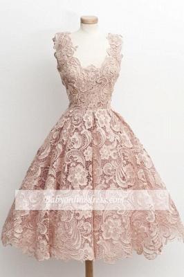 A-Line Short Lace Simple Sleeveless Sexy Homecoming Dress UKes UK_4