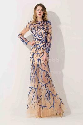 Elegant Long Sleeve A-line Evening Dress UK Beadings Jewel_1