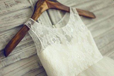 Lovely Lace Tulle Short Flower Girl Dress Illusion Sleeveless_4