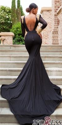 Black prom Dress UK, long sleeve evening Dress UK BK0 BA8839_3