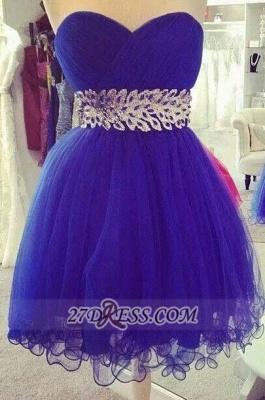 Elegant Sweetheart Sleeveless Short Homecoming Dress UK Zipper Beadings Crystals Cocktail Gown_1
