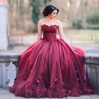 Newest Sweetheart A-line Evening Dress UK Sleeveless Flowers SP0051_2