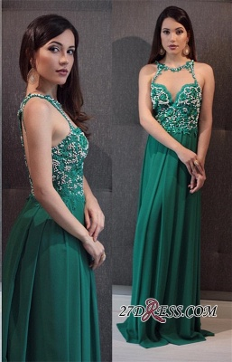 Green prom Dress UK, lace evening gowns_2