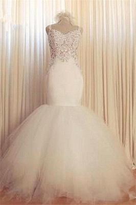 Gorgeous Lace Sexy Mermaid Wedding Dresses UK Tulle Sweetheart_3