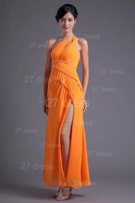 Elegant Chiffon Front Split Evening Dress UK Mermaid One Shoulder_5