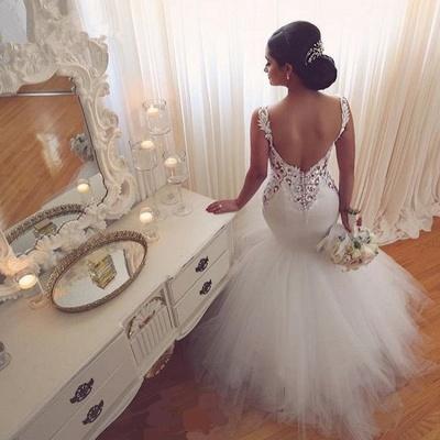 Gorgeous Lace Sexy Mermaid Wedding Dresses UK Tulle Sweetheart_5