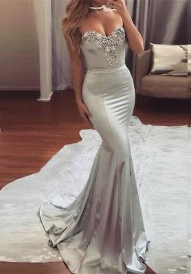 Sexy Mermaid Sweetheart Beadings Long Evening Dress UK BA6763_1