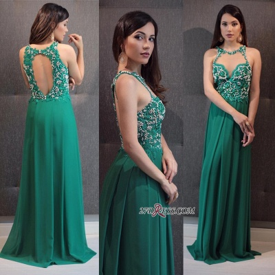 Green prom Dress UK, lace evening gowns_1