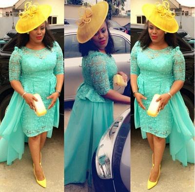 Luxury Lace Hi-Lo Cocktail Dress UK Chiffon_1