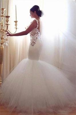 Gorgeous Lace Sexy Mermaid Wedding Dresses UK Tulle Sweetheart_2