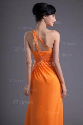 Elegant Chiffon Front Split Evening Dress UK Mermaid One Shoulder_3