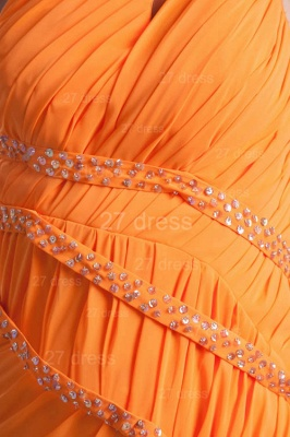 Elegant Chiffon Front Split Evening Dress UK Mermaid One Shoulder_2