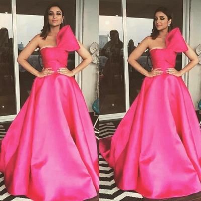Charming Fuchsia Sleeveless Princess Prom Dress UK_3