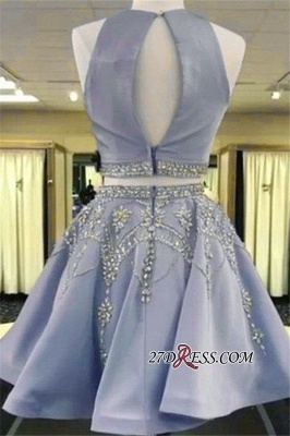 Short Crystal Two-Pieces A-line Sleeveless Luxury Homecoming Dress UK_3