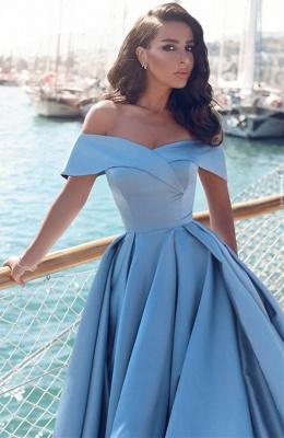 Gorgeous Off-the-Shoulder Mermaid Evening Dress UK Long With Slit BA6777_2