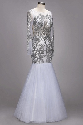 Long Sleeve Prom Dress UK | Sequins Evening Gown_2