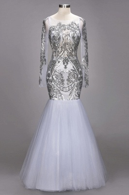 Long Sleeve Prom Dress UK | Sequins Evening Gown_1