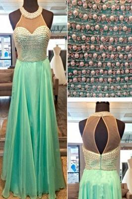 Timeless Beads High-Neck Long Prom Dress UK Chiffon Sleeveless Party Gowns AP0_3