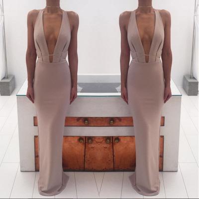 Sexy Deep V-Neck Long Evening Dress UKes UK Floor Length nr001_4