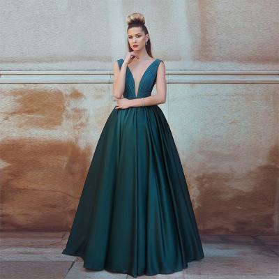Sexy Long V-neck Sleeveless Evening Dress UK Floor Length BA7279_3