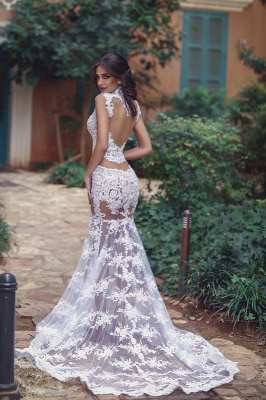 Elegant Lace Prom Dress UK   Mermaid Sheer-Skirt Party Gowns_4