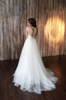 Elegant Cap Sleeve Lace Wedding Dress Tulle Detachable_2