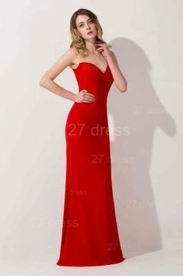 Elegant Mermaid Red Illusion Evening Dress UK Crystals Floor-length_1