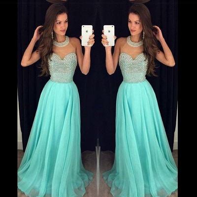 Timeless Beads High-Neck Long Prom Dress UK Chiffon Sleeveless Party Gowns AP0_2